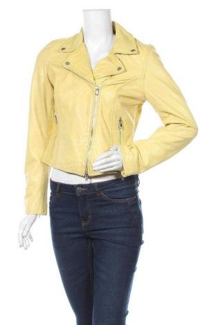 Dámská kožená bunda  Freaky Nation, Velikost M, Barva Žlutá, Pravá kůže, Cena  2530,00Kč
