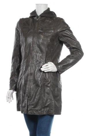 Дамско кожено яке Gipsy, Размер L, Цвят Сив, Естествена кожа, Цена 122,70лв.