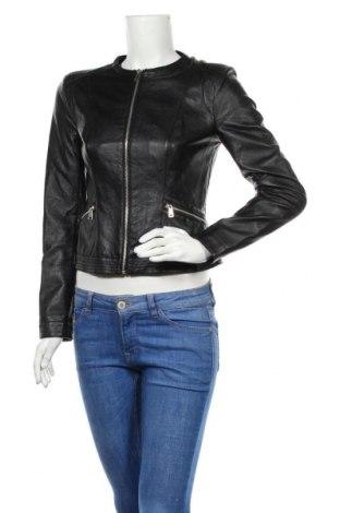 Дамско кожено яке Jennifer Taylor, Размер S, Цвят Черен, Еко кожа, Цена 16,54лв.