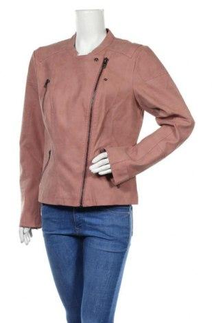 Дамско кожено яке ONLY, Размер XL, Цвят Розов, Еко кожа, Цена 40,05лв.