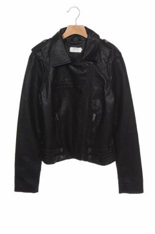 Дамско кожено яке ONLY, Размер XS, Цвят Черен, Еко кожа, Цена 40,71лв.