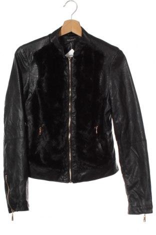 Дамско кожено яке Osley, Размер XS, Цвят Черен, Еко кожа, текстил, Цена 35,91лв.