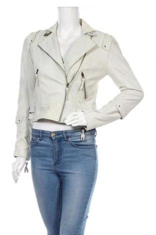 Дамско кожено яке Pepe Jeans, Размер S, Цвят Син, Естествена кожа, Цена 150,15лв.