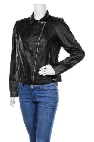 Дамско кожено яке Primark, Размер L, Цвят Черен, Еко кожа, Цена 22,68лв.