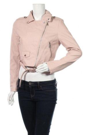 Дамско кожено яке Tally Weijl, Размер M, Цвят Розов, Еко кожа, Цена 15,80лв.