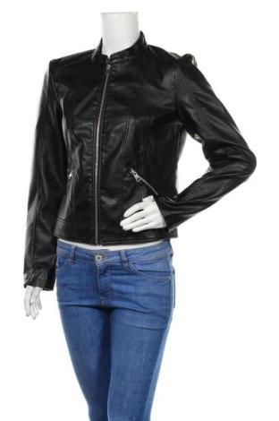 Дамско кожено яке Vero Moda, Размер L, Цвят Черен, Еко кожа, Цена 33,12лв.