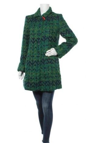 Дамско палто Desigual, Размер L, Цвят Зелен, 55% полиестер, 43% вълна, 2% полиамид, Цена 80,70лв.