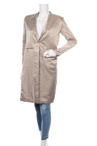 Дамско палто Mtwtfss Weekday, Размер XS, Цвят Бежов, Полиестер, Цена 64,58лв.