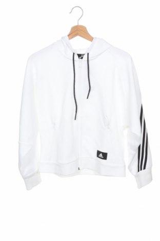 Дамско поларено горнище Adidas, Размер S, Цвят Бял, Полиестер, Цена 74,25лв.