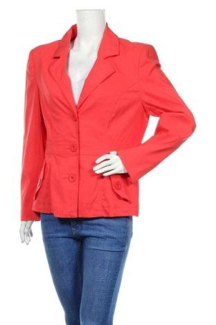Дамско сако Casa Blanca, Размер XL, Цвят Червен, 70% вискоза, 27% полиамид, 3% еластан, Цена 23,52лв.