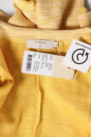 Дамско сако Cream, Размер M, Цвят Жълт, 40% памук, 40% полиестер, 20% вискоза, Цена 104,25лв.