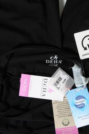 Дамско спортно долнище Deha, Размер M, Цвят Черен, 88% памук, 12% еластан, Цена 25,52лв.