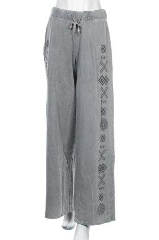 Γυναικείο αθλητικό παντελόνι Desigual, Μέγεθος L, Χρώμα Γκρί, Βαμβάκι, Τιμή 30,62€