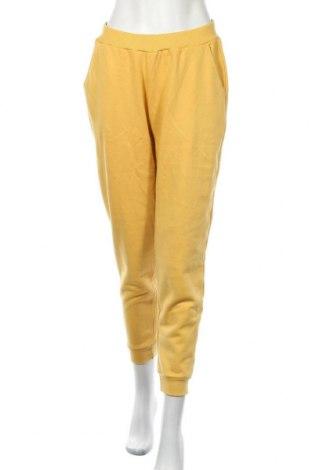 Дамско спортно долнище Even&Odd, Размер M, Цвят Жълт, 60% памук, 40% полиестер, Цена 27,00лв.
