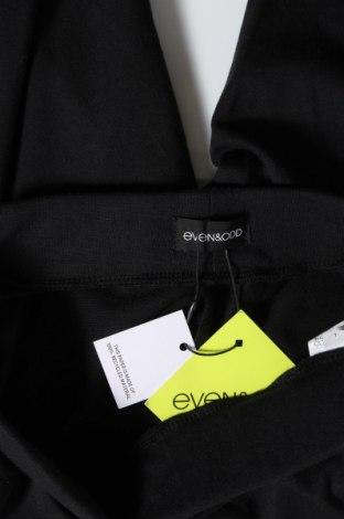 Дамско спортно долнище Even&Odd, Размер L, Цвят Черен, 60% памук, 40% полиестер, Цена 22,62лв.