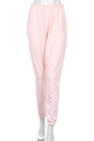 Pantaloni trening de femei Missguided, Mărime M, Culoare Roz, 60% bumbac, 40% poliester, Preț 58,03 Lei