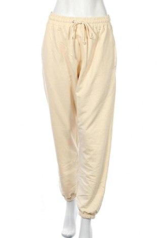 Дамско спортно долнище Missguided, Размер L, Цвят Жълт, 60% памук, 40% полиестер, Цена 23,92лв.