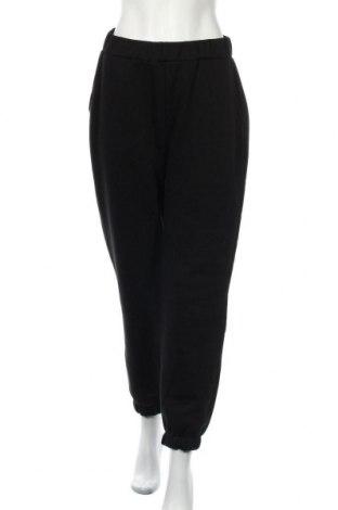 Дамско спортно долнище Na-Kd, Размер M, Цвят Черен, 70% памук, 30% полиестер, Цена 24,99лв.