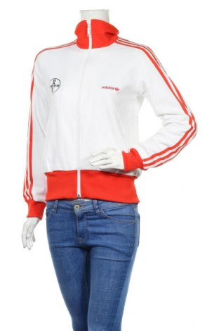 Дамско спортно горнище Adidas Originals, Размер M, Цвят Бял, 52% памук, 48% полиестер, Цена 22,05лв.