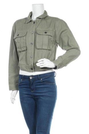 Geacă de femei Pull&Bear, Mărime S, Culoare Verde, Bumbac, Preț 76,69 Lei