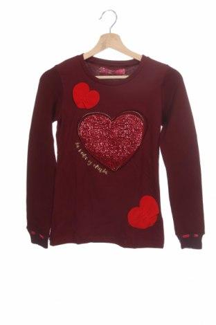 Детска блуза Desigual, Размер 11-12y/ 152-158 см, Цвят Червен, 99% памук, 1% еластан, Цена 27,60лв.