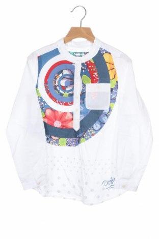 Детска блуза Desigual, Размер 7-8y/ 128-134 см, Цвят Бял, Памук, Цена 27,60лв.