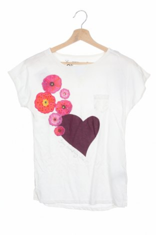 Детска блуза Desigual, Размер 11-12y/ 152-158 см, Цвят Бял, 78% памук, 22% вискоза, Цена 25,37лв.