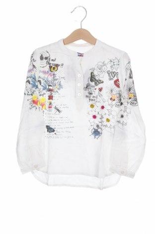 Детска блуза Desigual, Размер 3-4y/ 104-110 см, Цвят Бял, Вискоза, Цена 27,60лв.