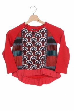 Bluză pentru copii Desigual, Mărime 5-6y/ 116-122 cm, Culoare Multicolor, 79% bumbac, 17% poliester, 2% viscoză, 1% elastan, 1% poliamidă, Preț 108,95 Lei