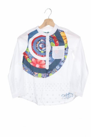 Детска блуза Desigual, Размер 7-8y/ 128-134 см, Цвят Бял, Памук, Цена 23,60лв.