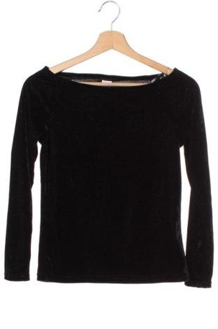Bluză pentru copii Lindex, Mărime 10-11y/ 146-152 cm, Culoare Negru, 95% poliester, 5% elastan, Preț 15,75 Lei