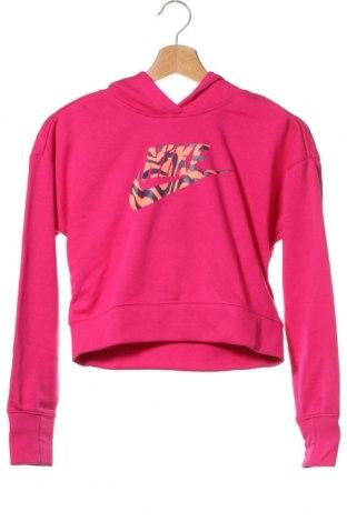 Hanorac pentru copii Nike, Mărime 10-11y/ 146-152 cm, Culoare Roz, 80% bumbac, 20% poliester, Preț 97,90 Lei