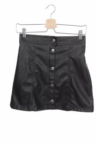 Dětská kožená sukně H&M, Velikost 13-14y/ 164-168 cm, Barva Černá, Eko kůže, Cena  330,00Kč