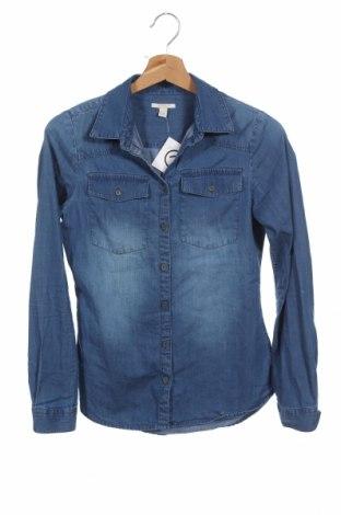 Детска риза Esprit, Размер 12-13y/ 158-164 см, Цвят Син, Памук, Цена 4,46лв.