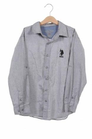 Παιδικό πουκάμισο U.S. Polo Assn., Μέγεθος 10-11y/ 146-152 εκ., Χρώμα Γκρί, Βαμβάκι, Τιμή 16,62€