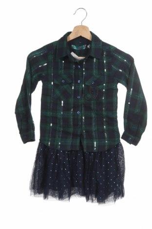 Детска рокля Desigual, Размер 5-6y/ 116-122 см, Цвят Син, 83% памук, 16% полиестер, 1% метални нишки, Цена 53,40лв.
