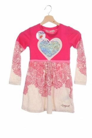 Детска рокля Desigual, Размер 4-5y/ 110-116 см, Цвят Розов, 66% памук, 34% полиестер, Цена 41,40лв.