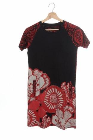 Детска рокля Desigual, Размер 13-14y/ 164-168 см, Цвят Черен, Памук, Цена 41,40лв.