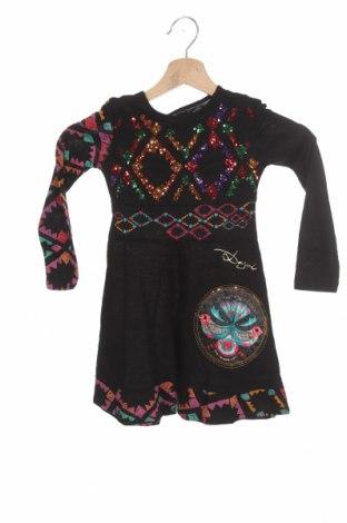 Детска рокля Desigual, Размер 2-3y/ 98-104 см, Цвят Черен, Памук, Цена 41,40лв.