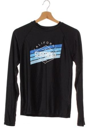 Детска спортна блуза Wave Zone, Размер 15-18y/ 170-176 см, Цвят Черен, Полиестер, еластан, Цена 8,93лв.
