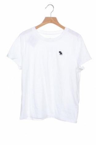 Tricou pentru copii Abercrombie Kids, Mărime 13-14y/ 164-168 cm, Culoare Alb, 60% bumbac, 40% poliester, Preț 58,22 Lei