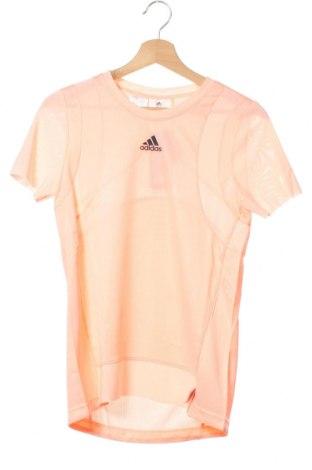 Tricou pentru copii Adidas, Mărime 13-14y/ 164-168 cm, Culoare Roz, Poliester, Preț 77,37 Lei