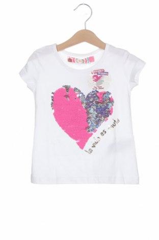 Tricou pentru copii Desigual, Mărime 3-4y/ 104-110 cm, Culoare Alb, Bumbac, Preț 83,45 Lei