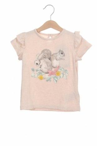 Tricou pentru copii Lil' Atelier by Name It, Mărime 18-24m/ 86-98 cm, Culoare Roz, 92% viscoză, 4% in, 4% elastan, Preț 55,27 Lei