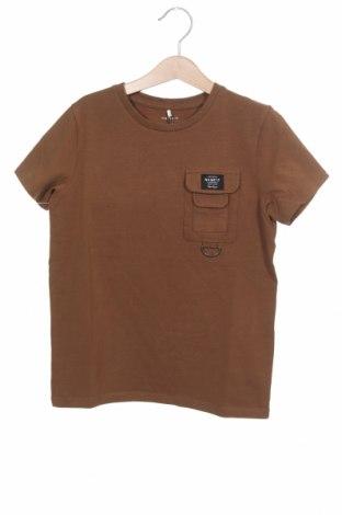 Tricou pentru copii Name It, Mărime 6-7y/ 122-128 cm, Culoare Maro, 95% bumbac, 5% elastan, Preț 55,27 Lei