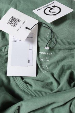Детска тениска Name It, Размер 6-7y/ 122-128 см, Цвят Зелен, Памук, Цена 19,50лв.