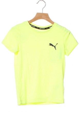 Tricou pentru copii PUMA, Mărime 4-5y/ 110-116 cm, Culoare Verde, Poliester, Preț 77,37 Lei