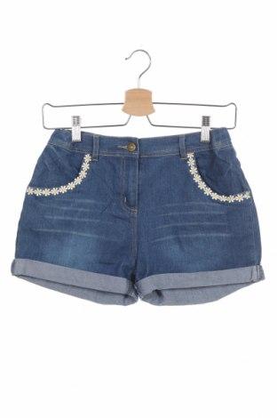 Детски къс панталон Tu, Размер 11-12y/ 152-158 см, Цвят Син, 59% памук, 28% полиестер, 11% вискоза, 2% еластан, Цена 13,86лв.