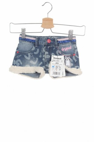 Pantaloni scurți pentru copii Desigual, Mărime 3-4y/ 104-110 cm, Culoare Albastru, 74% bumbac, 23% poliester, 3% elastan, Preț 131,74 Lei