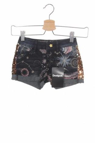 Pantaloni scurți pentru copii Desigual, Mărime 3-4y/ 104-110 cm, Culoare Albastru, 73% bumbac, 25% poliester, 2% elastan, Preț 125,89 Lei